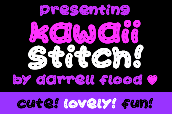 Kawaii Stitch font by Darrell Flood