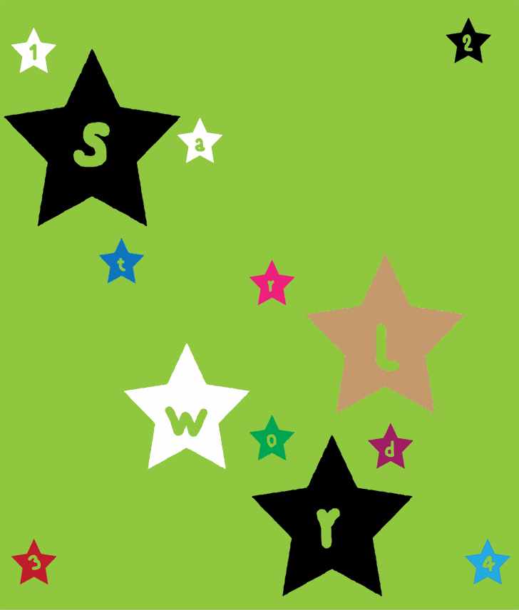 Image for stars world font