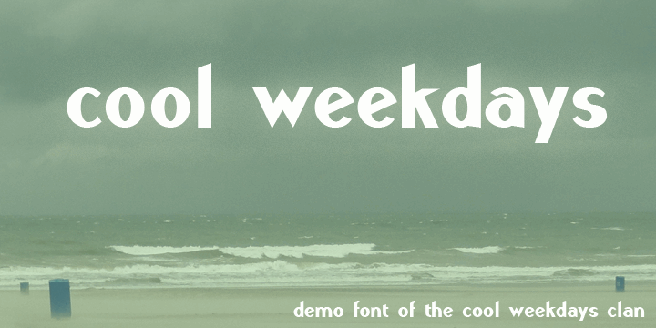 Image for Cool Weekdays Demo font