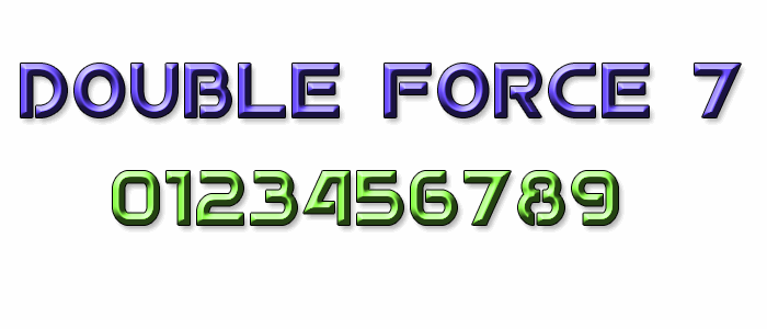 Image for Double Force 7 font