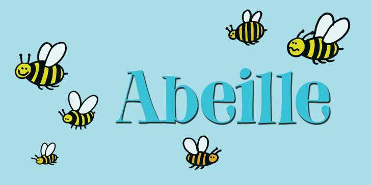 DK Abeille font by David Kerkhoff