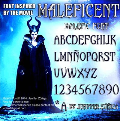 Malefic Font by JenZdesign
