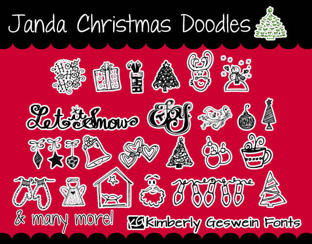 Image for Janda Christmas Doodles font
