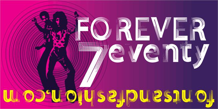 Image for FOREVER 7entin demo font