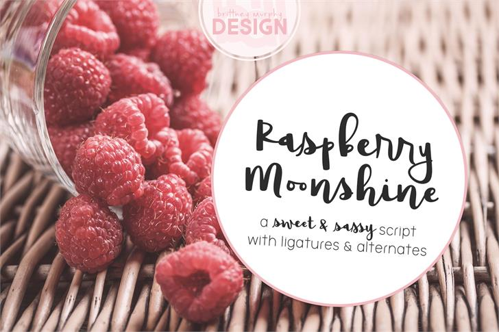 Raspberry Moonshine font by Brittney Murphy Design