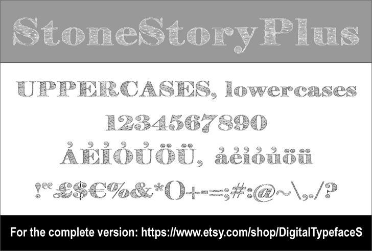 Image for StoneStoryPlusP font