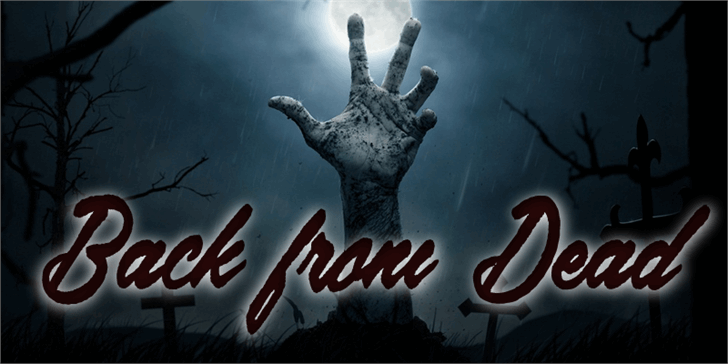 Image for Back from the Dead font