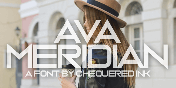 Ava Meridian font by Chequered Ink