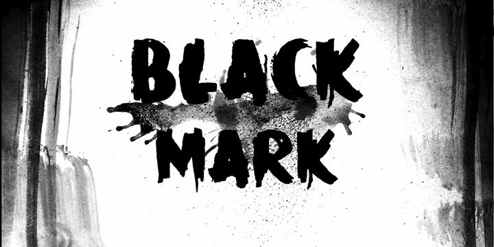 Image for DK Black Mark font