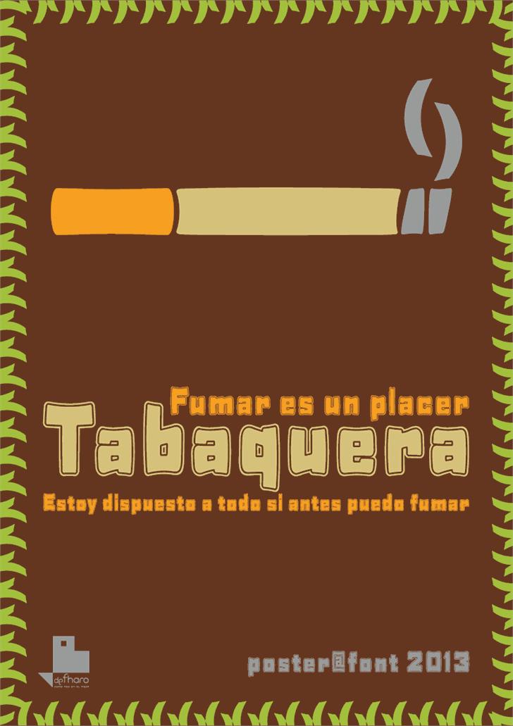 Tabaquera font by deFharo