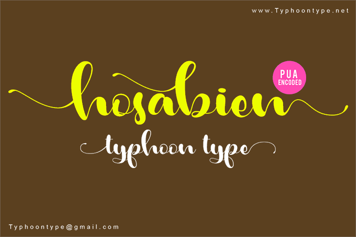 Hosabien font by Typhoon Type - Suthi Srisopha