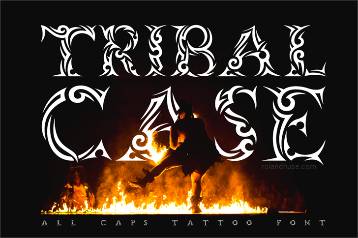 Tribalcase font by Roland Huse Design