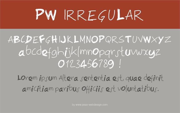 Image for PWIrregular font