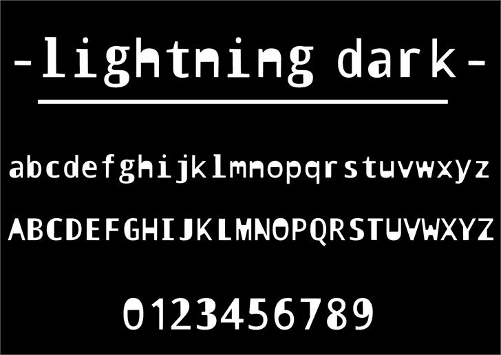 Image for lightning dark font