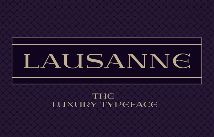 Image for Lausanne font