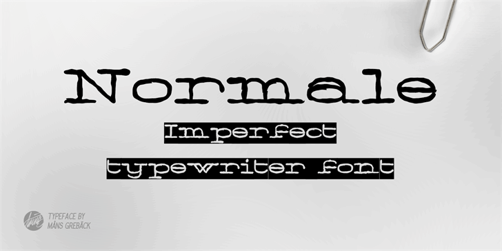 Image for Normale Personal Use font