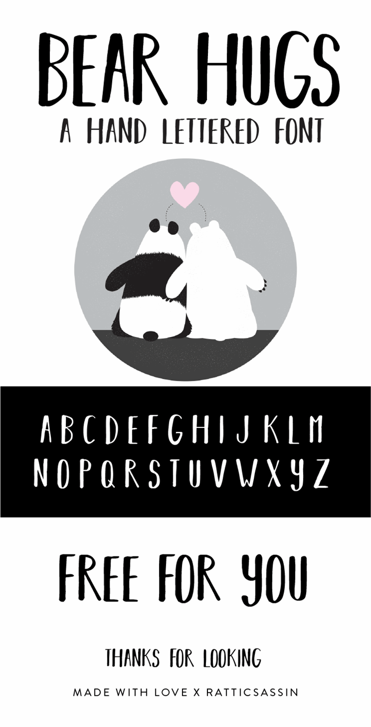 Image for BEAR HUGS BY RATTICSASSIN font
