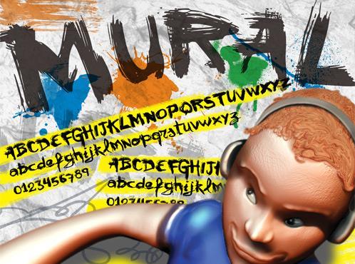 Image for VTKS  mural font