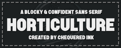 Horticulture font by Chequered Ink