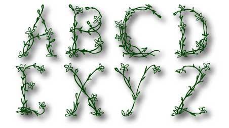 Image for Floral font