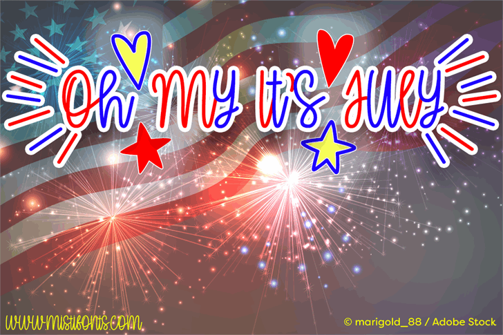 Image for Oh My Its July font