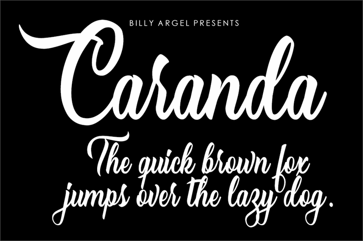 Caranda Personal Use font by Billy Argel
