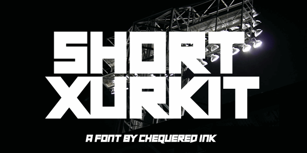 Short Xurkit font by Chequered Ink