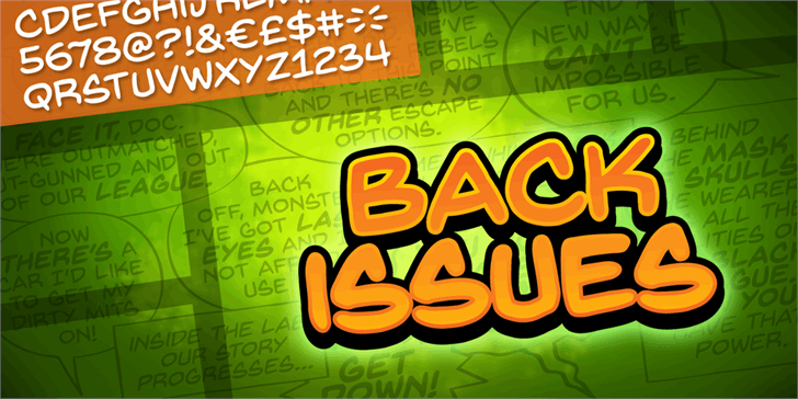 Image for Back Issues BB font