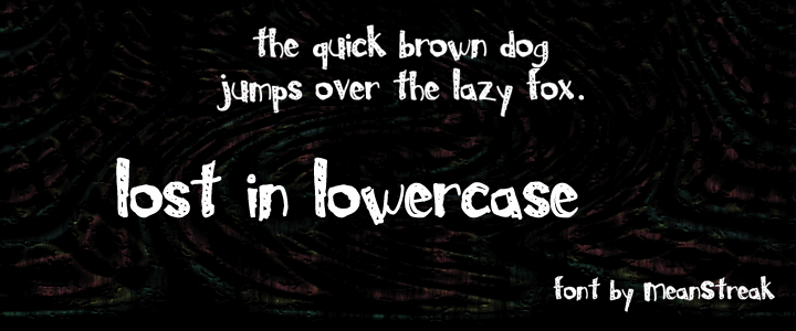 Image for Lost In Lowercase font