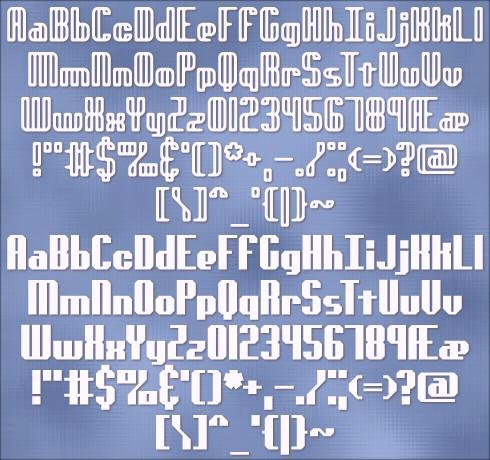 genotype BRK font by Ænigma Fonts