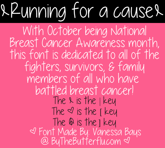 Image for Running for a cause font