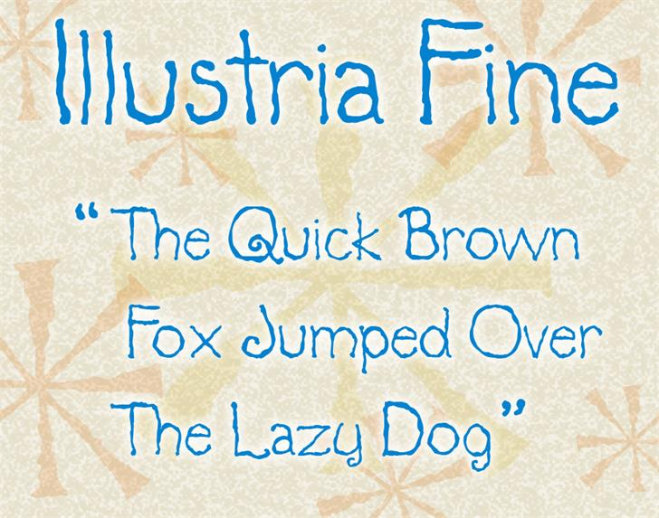 Illustria font by waxyleaves