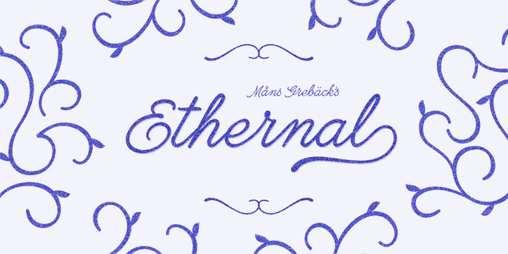 Ethernal Bold PERSONAL USE font by Måns Grebäck