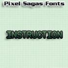 Instruction font by Pixel Sagas