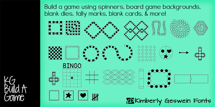 KG Build A Game font by Kimberly Geswein