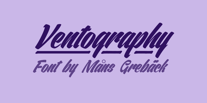 Image for Ventography Personal Use Only font