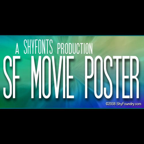 SF Movie Poster font by ShyFoundry