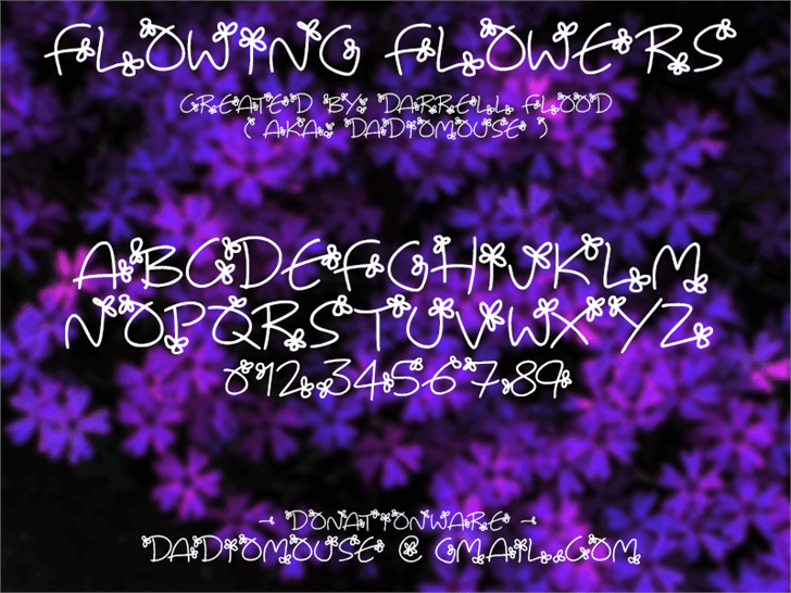 Image for Flowing Flowers font