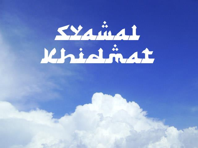 Image for Syawal Khidmat font