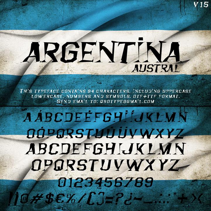 Image for Argentina Austral font