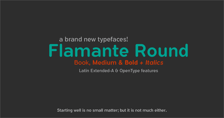 Image for Flamante Round Bold font