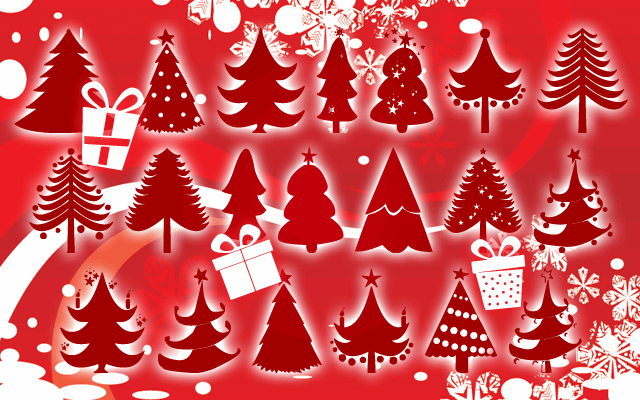 Christmas Trees font by Z-Designs