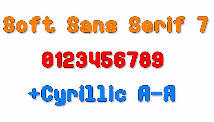Image for Soft Sans Serif 7 font