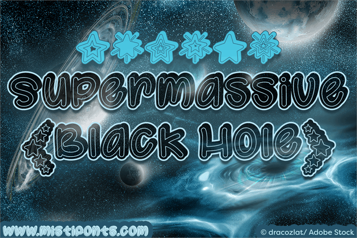 Image for Supermassive Black Hole font