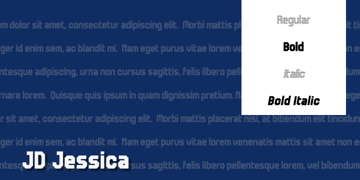 Image for JD Jessica font