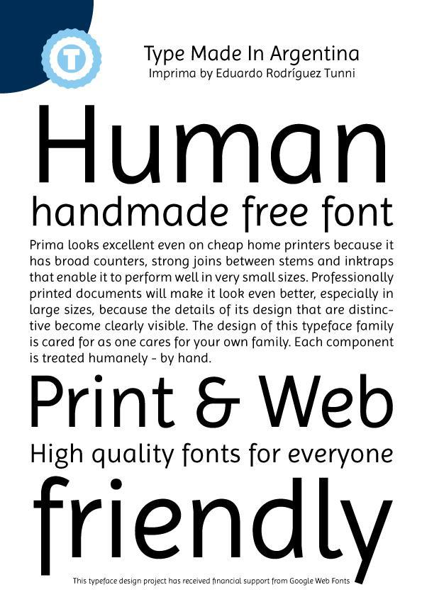 Image for Imprima font