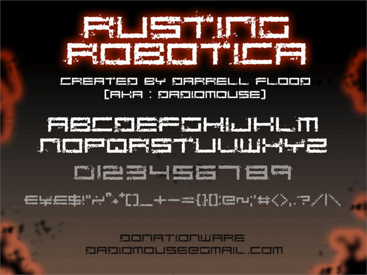 Image for Rusting Robotica font