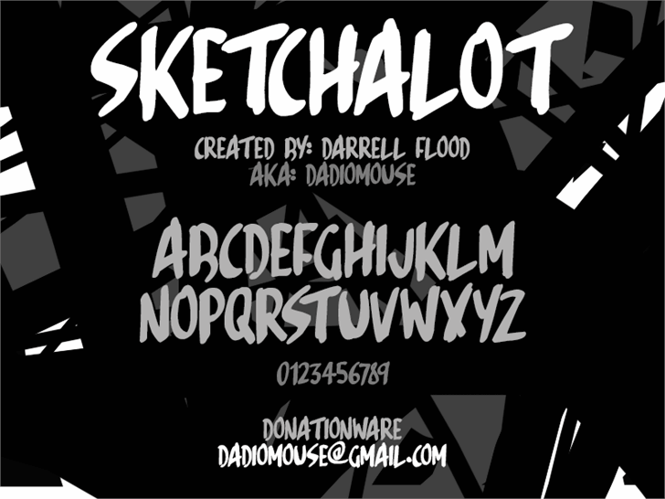 Sketchalot font by Darrell Flood