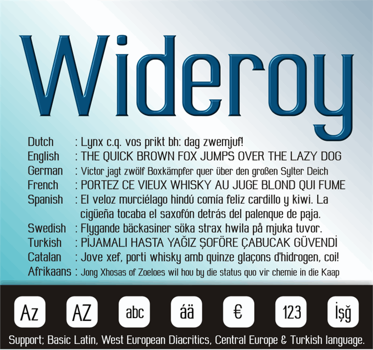 Image for Wideroy font