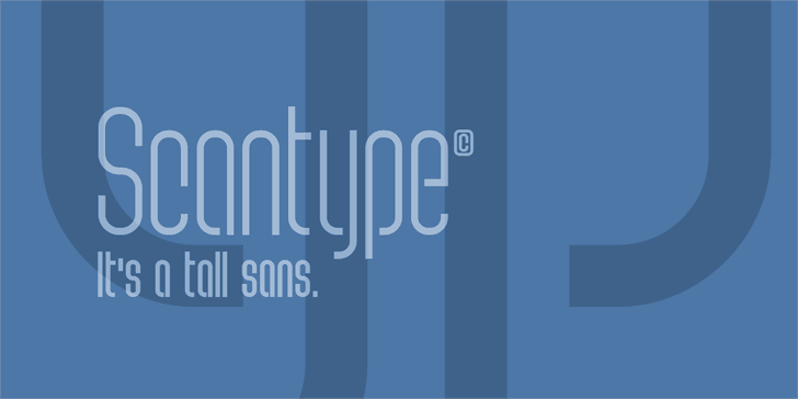 Image for Scantype PERSONAL USE font